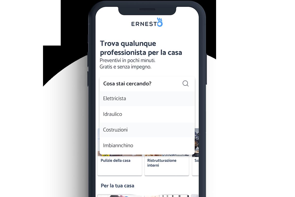 Ernesto app professionisti e clienti
